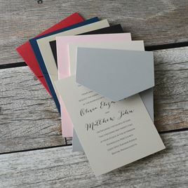 Total Elegance - Navy Pocket Invitation