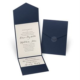 Traditional wedding invitations invitations by dawn total elegance pocket invitation stopboris Image collections