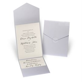 Total Elegance - Silver Shimmer Pocket Invitation