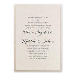 Layered Elegance - Blush Shimmer - Invitation