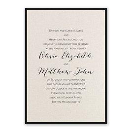 Layered Elegance - Black - Invitation