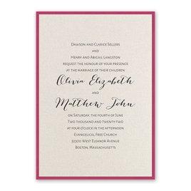 Layered Elegance - Fuchsia - Invitation