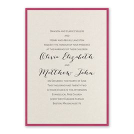 Layered Elegance - Fuchsia - Invitation