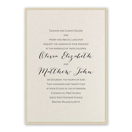 Elegant Wedding Invitations: Layered Elegance Invitation