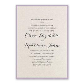 Layered Elegance - Lavender - Invitation