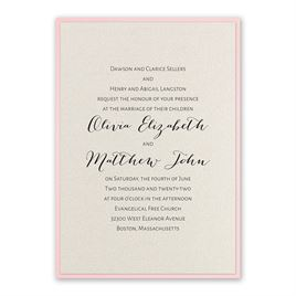 Layered Elegance - Pink - Invitation