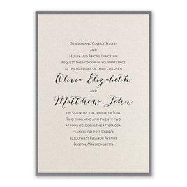 Layered Elegance - Pewter - Invitation