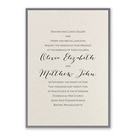 Layered Elegance - Pewter - Invitation