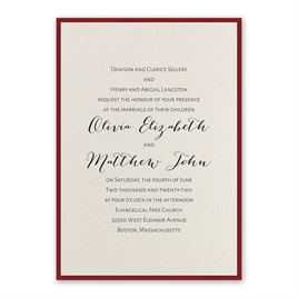 Layered Elegance - Red - Invitation