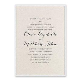 Layered Elegance - White Shimmer - Invitation