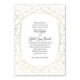 Clean Lines - Gold - Foil Invitation