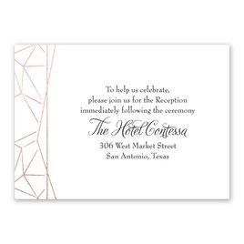Clean Lines - Rose Gold - Foil Reception Card