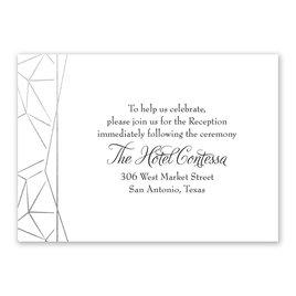 Clean Lines - Silver - Foil Reception Card