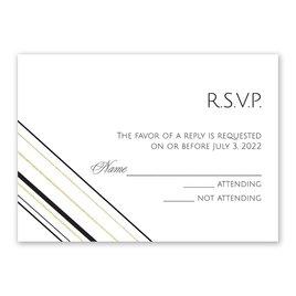 Sharp Lines - Gold - Foil Response Card