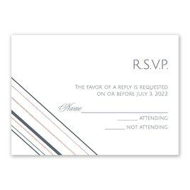 Sharp Lines - Rose Gold - Foil Response Card