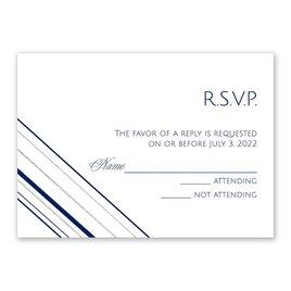 Sharp Lines - Silver - Foil Response Card