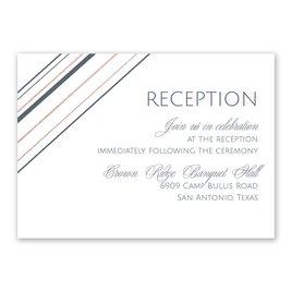 Sharp Lines - Rose Gold - Foil Reception Card