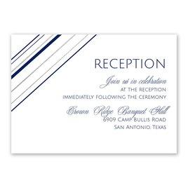 Sharp Lines - Silver - Foil Reception Card