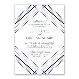 Sharp Lines - Silver - Foil Invitation