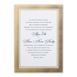Wedding Invitations: Golden Grandeur Invitation