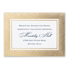 Golden Grandeur - Reception Card