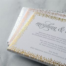 Speckled Elegance - Gold - Letterpress and Foil Invitation