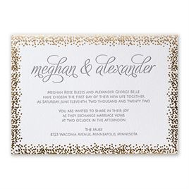Speckled Elegance Letterpress and Foil Invitation