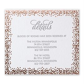 Speckled Elegance - Rose Gold - Letterpress and Foil Information Card