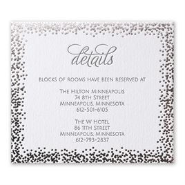 Speckled Elegance - Silver - Letterpress and Foil Information Card