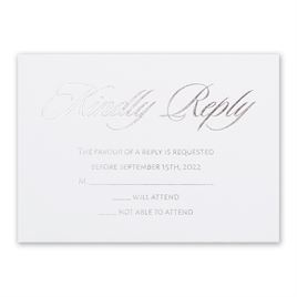 Glittering Glamour - Silver - Foil Response Card