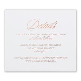 Glittering Glamour - Rose Gold - Foil Information Card