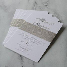 Glittering Glamour - Silver - Foil Invitation