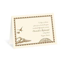 Treasure Map - Reception Card