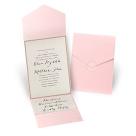 Glitter Elegance - Rose Gold Glitter - Pink Pocket Invitation