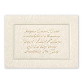 Supreme Tradition - Reception Card