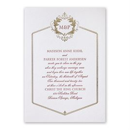 Regal Style Letterpress and Foil Invitation