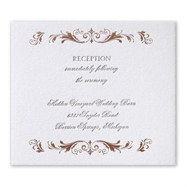 Regal Style - Rose Gold - Letterpress and Foil Information Card