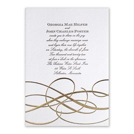 Adagio - Gold - Letterpress and Foil Invitation