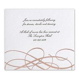 Adagio - Rose Gold - Letterpress and Foil Information Card