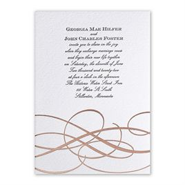 Adagio - Rose Gold - Letterpress and Foil Invitation