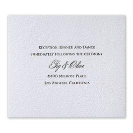Pure Sophistication - Letterpress Information Card