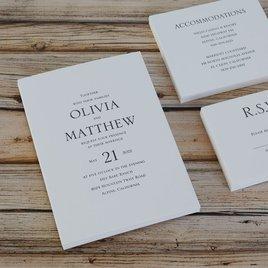 Modern Minimalist - Letterpress Invitation