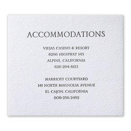 Modern Minimalist - Letterpress Information Card