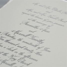 Rosewater Deckle - Invitation