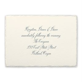 Rosewater Deckle - Reception Card