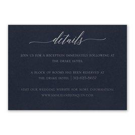 Navy Brilliance - Silver - Foil Reception Card