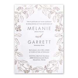Verdure - Rose Gold - Letterpress and Foil Invitation