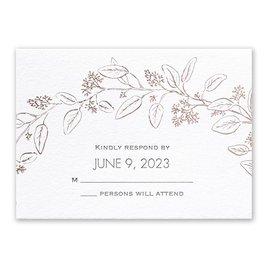 Verdure - Rose Gold - Letterpress and Foil Response Card