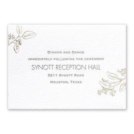 Wedding Reception Cards: Verdure - Letterpress and Foil Reception Card