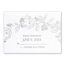 Verdure - Silver - Letterpress and Foil Response Card